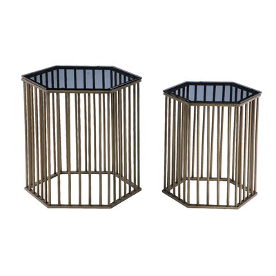 Pangea Home Randolf 2 Piece End Table Set
