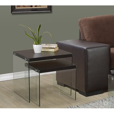 Monarch Specialties Inc. Two Piece Nesting Table Set