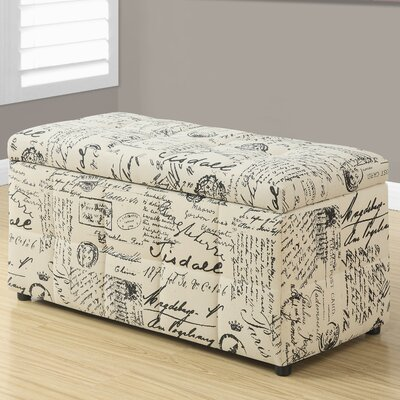 Monarch Specialties Inc. Vintage French Storage Ottoman