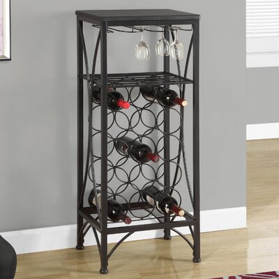 Monarch Specialties Inc. 15 Bottle Floor Wine Rack