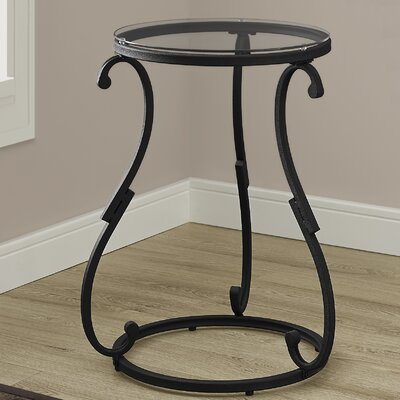 Monarch Specialties Inc. Hammered Black Metal End Table