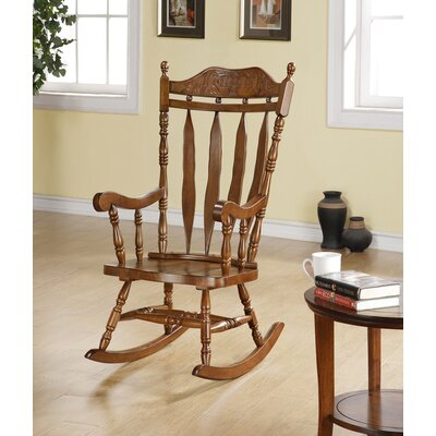Monarch Specialties Inc. Rocking Chair in Dark Walnut