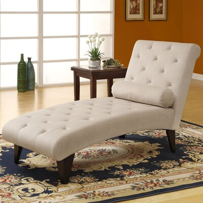 Monarch Specialties Inc. Velvet Chaise Lounge