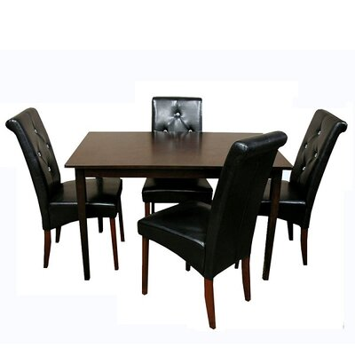 Warehouse of Tiffany Tiffany 5 Piece Dining Set