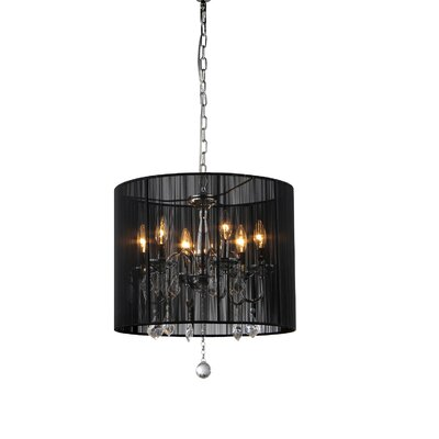 warehouse of tiffany sharona 6 light crystal chandelier reviews. Black Bedroom Furniture Sets. Home Design Ideas