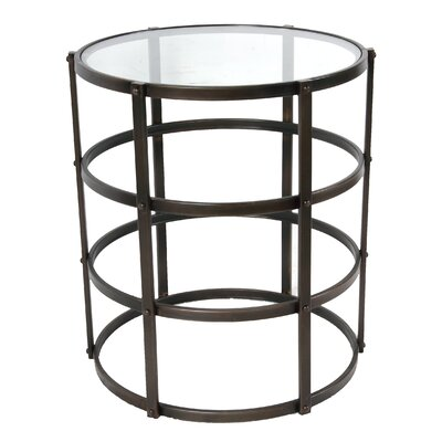 A&B Home Drum End Table