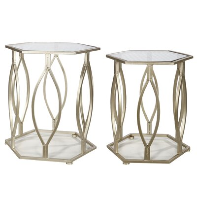 House of Hampton Wanger 2 Piece Nesting Tables