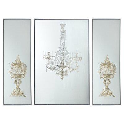 a b home 3 piece chandelier wall decor set reviews wayfair. Black Bedroom Furniture Sets. Home Design Ideas
