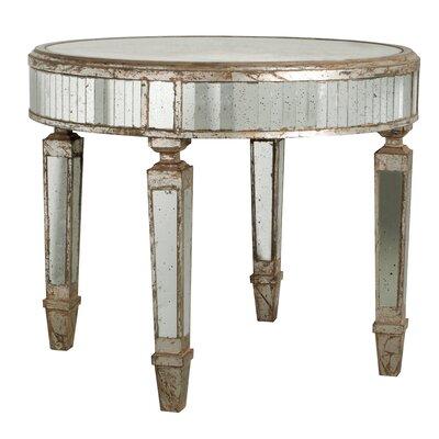A&B Home Mirror End Table