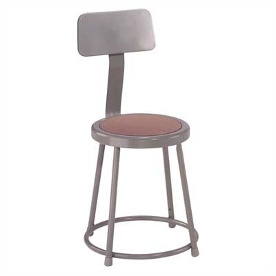 National Public Seating Stool with Bac..