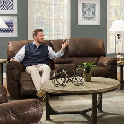 Simmons Upholstery Renegade Beautyrest Motion Console Loveseat