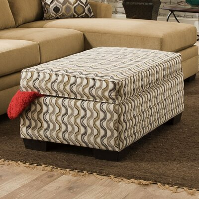 Simmons Upholstery Cicero Undulate Storage Ottoman