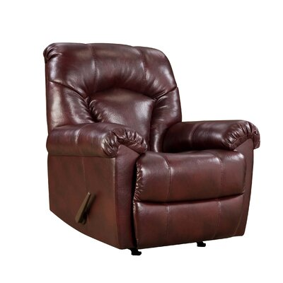 Simmons Upholstery Editor Bonded Leather Rocker Recliner