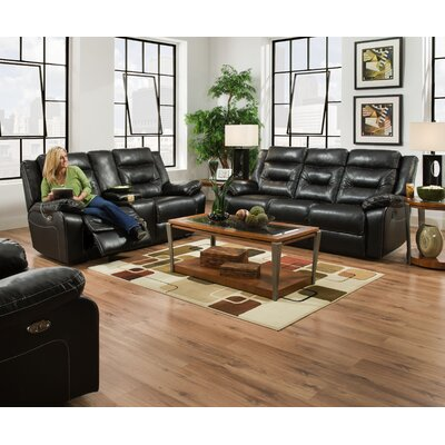 Darby Home Co Charlottesville Double Motion Console Reclining Loveseat