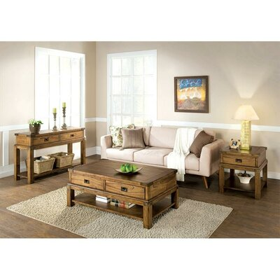 Loon Peak Monarch Rectangle Coffee Table Set