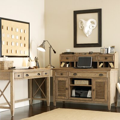 One Allium Way Coolidge 4-Piece L-Shape Writing Desk Office Suite
