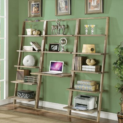 Beachcrest Home Kendall-Perrine Leaning Desk with Bookcase