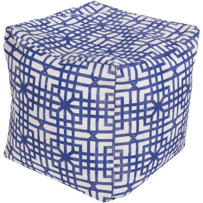 DwellStudio Lattice Marine Pouf