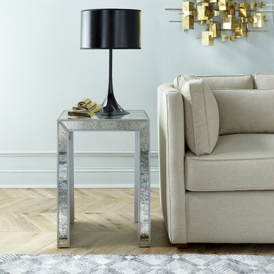 DwellStudio Nikko Mirrored Side Table