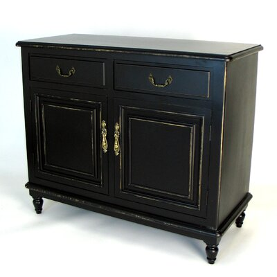 Wayborn Buffet Cabinet in Distressed Antique Black