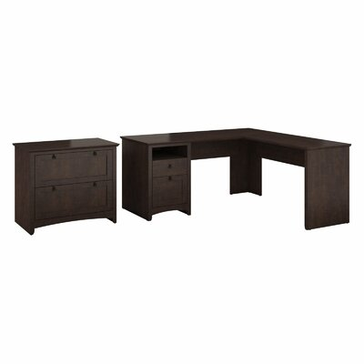 Darby Home Co Egger L-Shaped Desk Suite with Lateral File