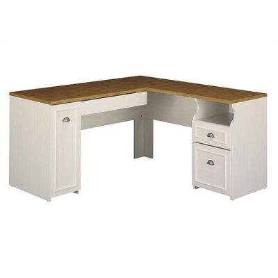 Bush Furniture Fairview L Desk in Antique White