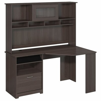 Red Barrel Studio Capital Corner Executive Desk with Hutch