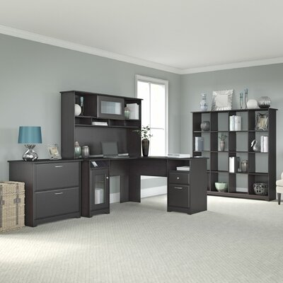 Bush Furniture Cabot 4-Piece L-Shape Desk Office Suite