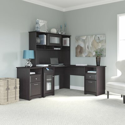 Bush Furniture Cabot 3-Piece L-Shape Desk Office Suite