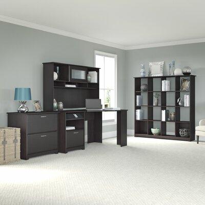 Bush Furniture Cabot 4-Piece L-Shape Desk Office Suite