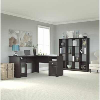 Bush Furniture Cabot 2-Piece L-Shape Desk Office Suite