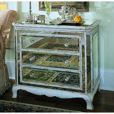 Hooker Furniture 3 Drawer French Mirror Chest & Reviews