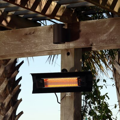 Marvelous Fire Sense Wall Mounted 1500 Watt Electric Mounted Patio Heater U0026 Reviews |  Wayfair