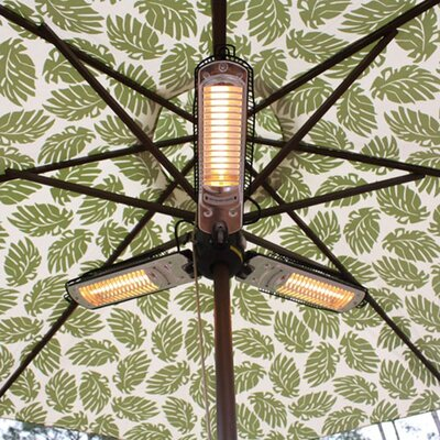 Fire Sense Umbrella 1500 Watt Electric Hanging Patio Heater U0026 Reviews |  Wayfair
