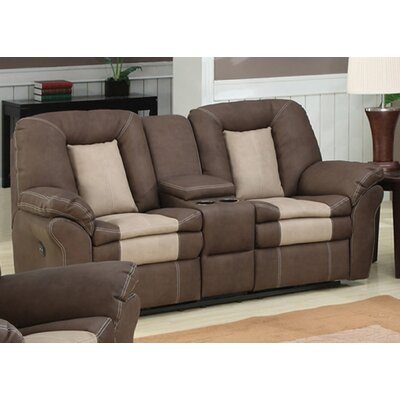 AC Pacific Carson Plush Living Room Dual Reclining Loveseat