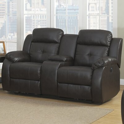 AC Pacific Troy Transitional Reclining Loveseat