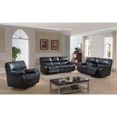 AC Pacific Evan 3 Piece Reclining Living Room Set