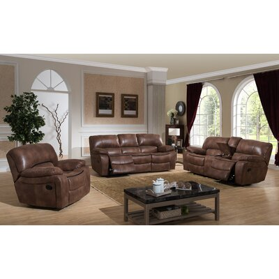 AC Pacific Leighton 3 Piece Reclining Living Roo..
