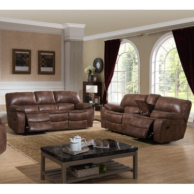 AC Pacific Leighton 2 Piece Reclining Living Room Set