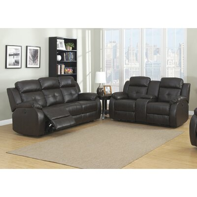 AC Pacific Troy Power 2 Piece Reclining Living Room Set