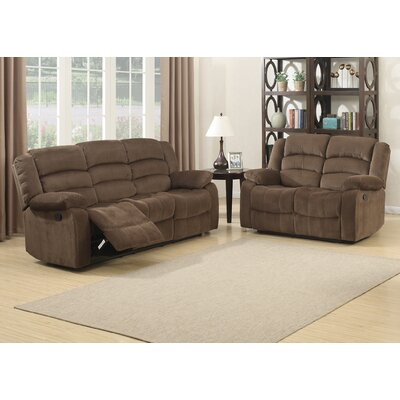 AC Pacific Bill Reclining Living Room Sofa and Loveseat Set