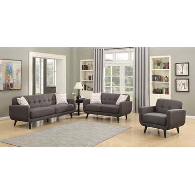 AC Pacific Crystal 3 Piece Living Room Set