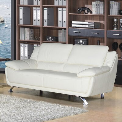 AC Pacific Dan Living Room Leather Loveseat