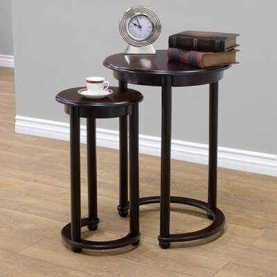 Charlton Home Vaughn 2 Piece Nesting Tables