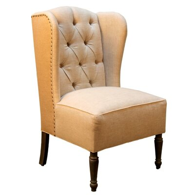 Pennisula Home Collection Co. Hampton Burlap and Linen Wingback Side Chair