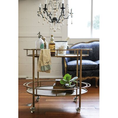 Creative Co-Op Cosmopolitan Serving Cart