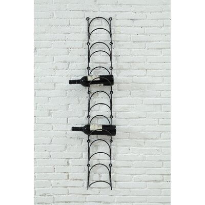 Creative Co-Op Sonoma 7 Bottle Wall Mounted Wine Rack
