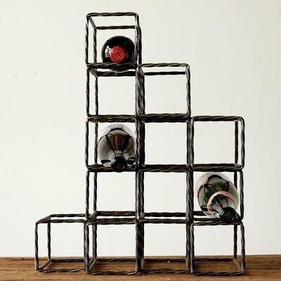 Creative Co-Op Sonoma 13 Bottle Tabletop Wine Rack