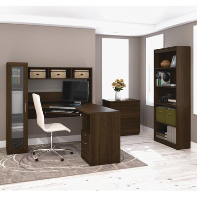 Bestar Jazz 3 Piece L-Shape Desk Office Suite