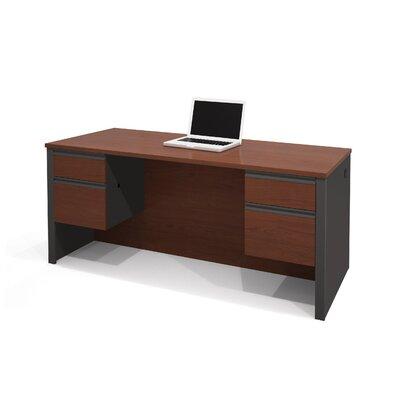 Bestar Prestige Computer Desk with Dual Half Pedestals